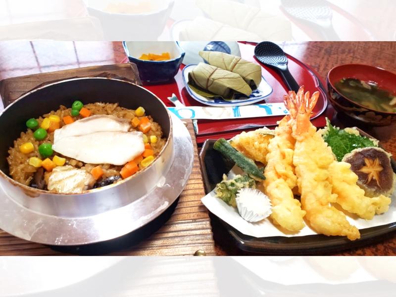 たい釜飯・天ぷらセット